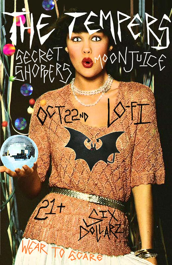 Oct 22 @ Lofi with Moonjuice and Secret Shoppers 21+ $6 9pm